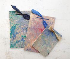 pocketbook, handmade marbled paper