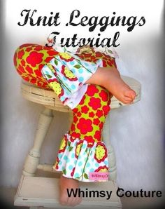 fairytale frocks and lollipops::whimsy couture, knit leggings, e-pattern, downloadable sewing pattern, pdf sewing pattern