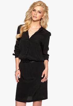 DAGMAR Lisen Woven Dress Black - Bubbleroom