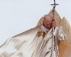 """Pope John Paul   """"i know that my Redeemer liveth, and He shall stand upon the earth at the later day, and though worms destroy this body yet in my flesh shall I see God!"""