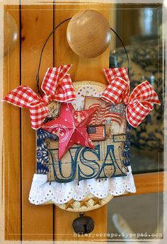 Sizzix USA mini-wall hanging...