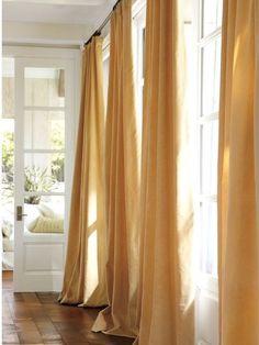 Velvet Drape, Wheat modern curtains