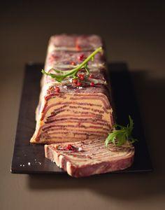 Mille-feuille de langue et foie gras, façon Lucullus.