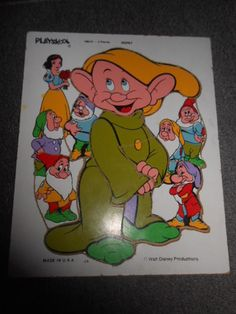 Playskool Dopey 9 Piece Puzzle Walt Disney Productions Made in USA   eBay