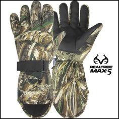 Realtree Max 5 Camo Hot Shot® Men's The Yak Hunting Gloves 2-Pack $24.99  #RealtreeMax5