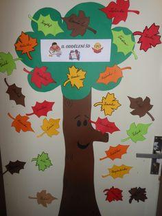 strom se jmény dětí z oddělení