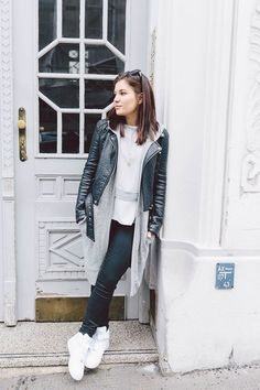 The street style looks модели Mode Outfits, Casual Outfits, Fashion Outfits, Womens Fashion, Street Style Looks, Looks Style, Style Olivia Palermo, Style Indie, Outfits