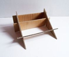 Laptop Stand With Hidden Organizer - Ideas of Laptop Stands - Laptop Stand With Hidden Organizer : 6 Steps (with Pictures) Instructables Laptop Desk, Notebook Laptop, Diy Laptop Stand, Fold Down Desk, Cardboard Display, Bed Tray, Desk Tidy, Table Legs, Molde