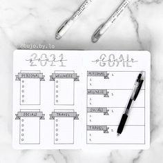 Bullet Journal Year Goals, Bullet Journal Goal Setting, Bullet Journal Boxes, Bullet Journal Yearly, Goal Journal, Bullet Journal Lettering Ideas, Bullet Journal Notebook, Bullet Journal Aesthetic, Bullet Journal Spread