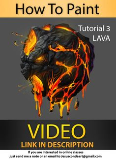 How To Paint LAVA _ Jesus Conde Tutorial 3 by JesusAConde on deviantART via PinCG.com