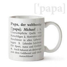 Willst du deinem Papa zeigen, dass er dir besonders wichtig ist? Schenke ihm die personalisierte Weltbester Vater Tasse, damit er weiß, dass er der allerbeste auf der Welt ist!