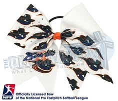 Proudly wear your Chicago Bandits - Official Rhinestone Logo Bow and show your support for your favorite National Pro Fastpitch Softball Team!