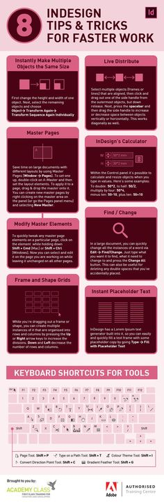 8 InDesign Tips And Tricks For Faster Work #Infographic