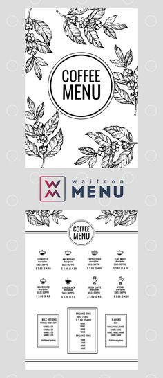 Menu design | Дизайн меню Coffee Shop Menu, Menu Online, Restaurant Menu Design, Page Layout, Cafe Menu