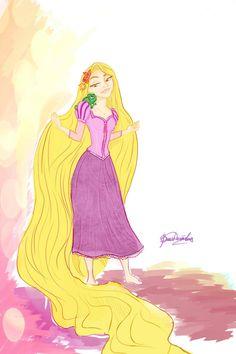 Rapunzel and Pascal by Vikki93 on deviantART