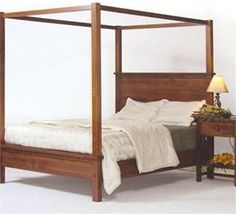 The Shaker Canopy Bed has a look that will fit in with modern or traditional homes.