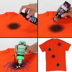 Spooky spider shirt steps