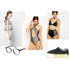 A fashion look from August 2014 featuring asos swimwear, MANGO and ASOS. Browse and shop related looks. One Piece, Shoe Bag, Polyvore, Swimwear, Stuff To Buy, Shopping, Collection, Design, Women