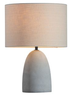 Vigor table lamp has contemporary styling with warm beige shade and a soft grey faux concrete base. Add to bedrooms or offices, lobby's or hotel guest rooms for the perfect touch of warmth sincerity. Bulbs not included, Matt Watt 60 W Type Frosted White. Beige Table Lamps, Cream Table Lamps, Lamp Table, Grey Table, Bedroom Lamps, Home Decor Bedroom, Master Bedroom, Bedroom Table, Room Decor