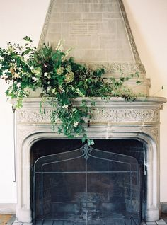 Creating a floral and foliage display for a fireplace mantelpiece certainly makes a spectacular statement and the design possibilities are endless…. This architectural feature lends itself be… Wedding Mantle, Wedding Fireplace, Flower Decorations, Wedding Decorations, Wedding Ideas, Wedding Styles, Wedding Inspiration, Floral Wedding, Wedding Flowers