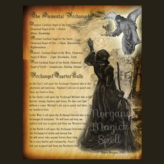 ELEMENTAL ARCHANGELS, Digital Download, Book of Shadows Page,Grimoire, Scrapbook,  Wicca, Pagan, Witchcraft, White Magick, Magick Spell by MorganaMagickSpell on Etsy