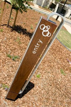 Wood & Wood Design » Projects » Signage & Wayfinding » Synergy Signage Board, Park Signage, Environmental Graphic Design, Environmental Graphics, Wayfinding Signs, Exterior Signage, Sign Display, Outdoor Signs, Signage Design