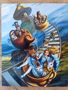 8x10 Signed Steampunk Alice in Wonderland by steampunkfantasyart