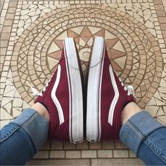 Brand new Burgundy vans ❤️ I love these but they're too big for me  originally $55 but I can do $50 shipped. Comment for more details or questions ☺️ Tags: red wine maroon old skool *NOT SWAPPING* Vans Shoes Sneakers