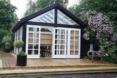 Billedresultat for port med vinduer Gazebo, Pergola, Glass House, Cottage Homes, Summer Garden, House In The Woods, Backyard Landscaping, Outdoor Living, New Homes