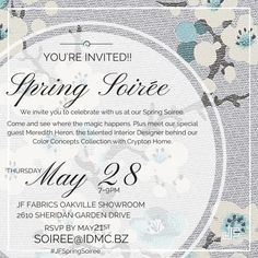 JF Fabrics Spring Soiree