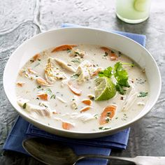 chicken soup with Lime and coconut!! Thailand style