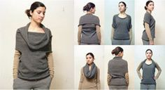 A Knit tube with round arm holes...multiple ways to wear! -(Elementum Things)