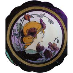 Limoges Mark 6 Art Nouveau Lustre Mucha Style Motif Plate/Charger (c.1891-1930)