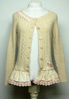 Mori Girl Style Sweater Shabby Chic Sweater Anthropologie