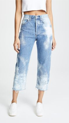 Agolde Cutoff Jeans Source by shoes with jeans Grunge Outfits, Outfits Casual, Jean Outfits, Simple Outfits, Outfit Jeans, Jeans Pants, Denim Jeans, Mom Jeans, Tie Dye Jeans