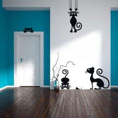 60 + Beautiful Wall Decals – Page 19 of 63 – SooPush 60 + Beautiful Wall Decals Home Design, Wall Design, Wall Drawing, Wall Decor Stickers, Beautiful Wall, Paint Designs, Diy Wall, Decoration, Wall Murals