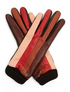 Missoni Striped leather gloves