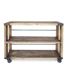 have a kitchen that has room for an island? perfect answer.... rustic bar cart, mobility can be very useful.