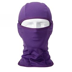 Walking Man Multipurpose Balaclava Full Face Tactical Mask Windproof Ski Warm Neck Gaiter Breathable Motorcycle Hood Quick dry Cycling Headgear Purple *** Check out the image by visiting the link.