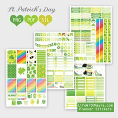 Free Printable St. Patrick's Day Planner Stickers {PDF, PNG and Silhouette files} from lifewithmayra