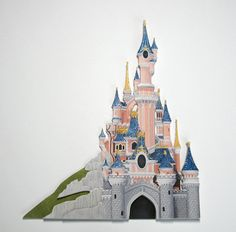 Sleeping Beauty's Castle - handmade Disney castle scrapbooking embellishment