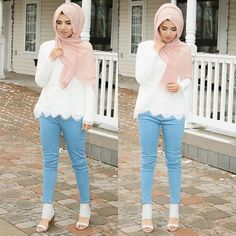 Most Popular Ways To Clothes For Women Hijab Summer 74 Modern Hijab Fashion, Hijab Fashion Inspiration, Islamic Fashion, Abaya Fashion, Muslim Fashion, Modest Fashion, Girl Fashion, Fashion Outfits, Fasion