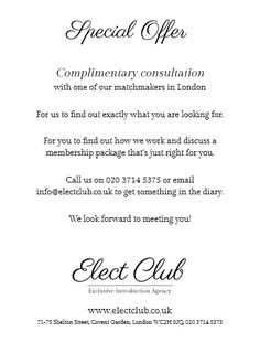 Matchmaking in Londen