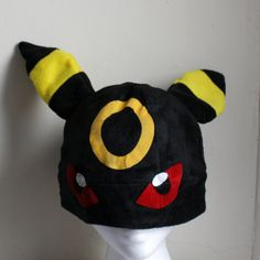 Umbreon pokemon Fleece Hat Anime Manga Cosplay Rave by AthenasWink, $25.00