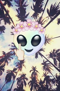 Emoji Wallpaper #emoji #alien #wallpaper