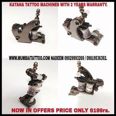mumbai tattoo sale katana tattoo machine offers in only Rs 6199/- with 2 years warranty .www.mumbaitattoo.com now cash on delivery also available . whats up me your order on this no 9029993269 Nadeem