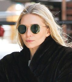 See The Sunglasses Your Favorite Celebs Are Wearing Now Ashley Olsen looking ever so chic in her own label, The Row Celebrity Sunglasses, Trending Sunglasses, Cool Sunglasses, Celebrities With Glasses, Famous Celebrities, Celebs, Buy Prescription Glasses Online, Buy Glasses Online, Sunnies