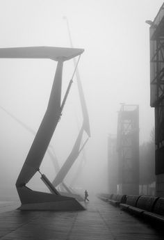 Foggy R'dam by German photographer Moritz Bernoully