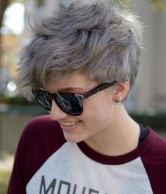 Grey Pixie Haircuts for Women
