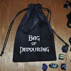 Dungeons and Dragons BAG of DEVOURING game dice bag